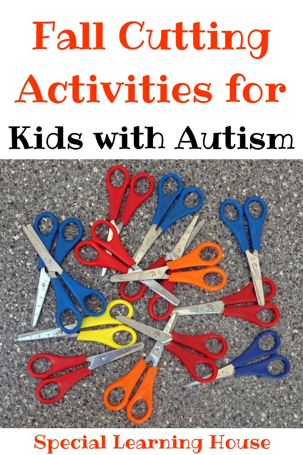 Fall Cutting Activities for Kids with Autism