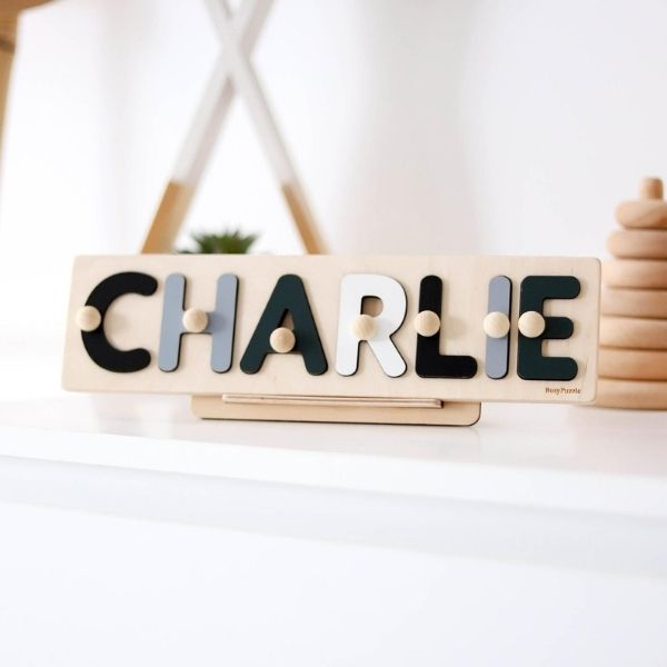 Personalized Wooden Name Puzzle with Pegs
