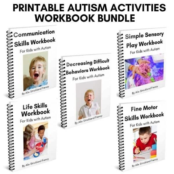 Printable Autism Activities Workbook Bundle
