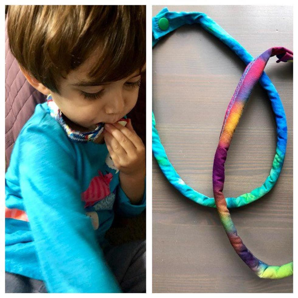 fabric chew necklace