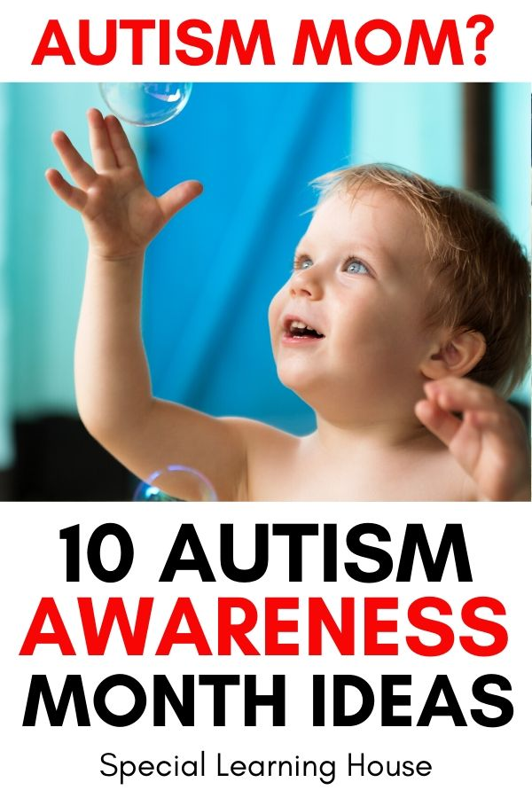autism awareness month ideas - autistic child looking at bubbles