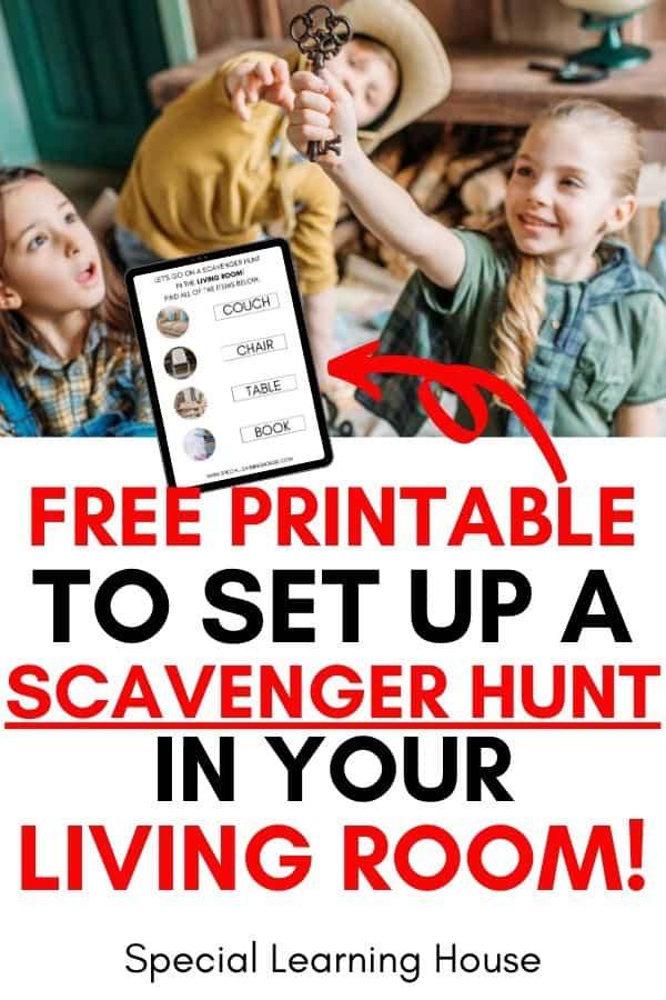 Scavenger Hunt for Kids at Home