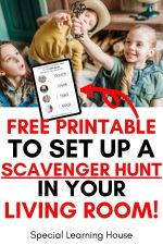 How to Set Up a Scavenger Hunt at Home (+ Free Printable)