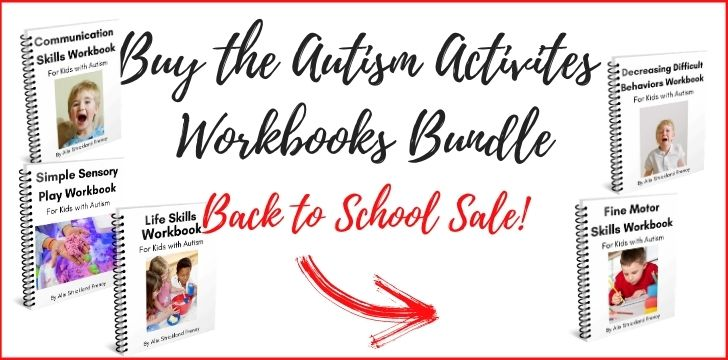 autism workbooks bundle