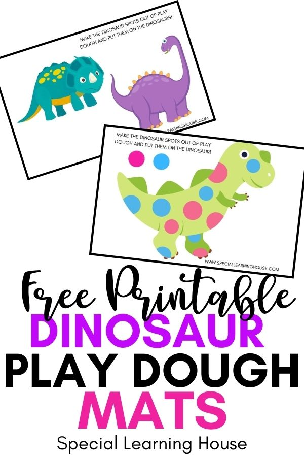 Free Printable Dinosaur Play Dough Mats