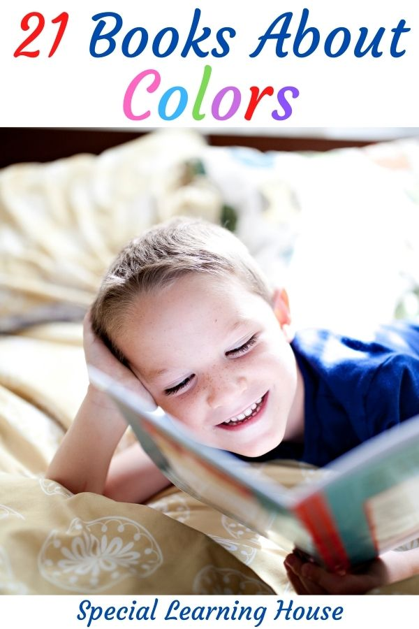 little boys reading books about colors
