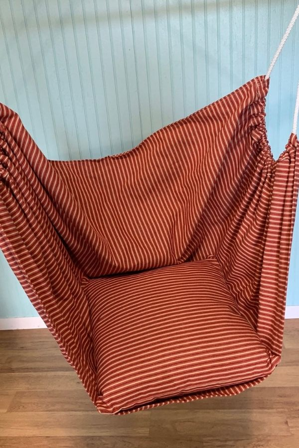 rust coloured hammock swing for kids with autism