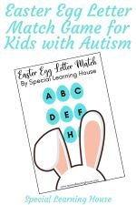 Easter Egg Letter Match for Kids with Autism