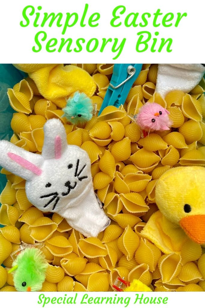 Easter Sensory Bin for Kids with Autism