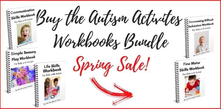 Autism Workbooks Spring School Sale!