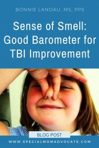 Sense of Smell: A Good Barometer for TBI Improvement