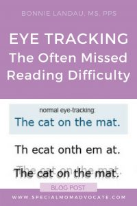 Eye Tracking: The Often Missed Reading Difficulty
