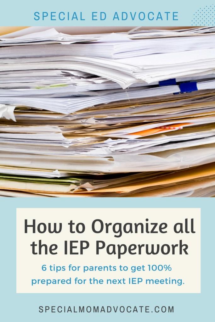 How to Organize IEP Paperwork - IEP Binder - IEP Organizer