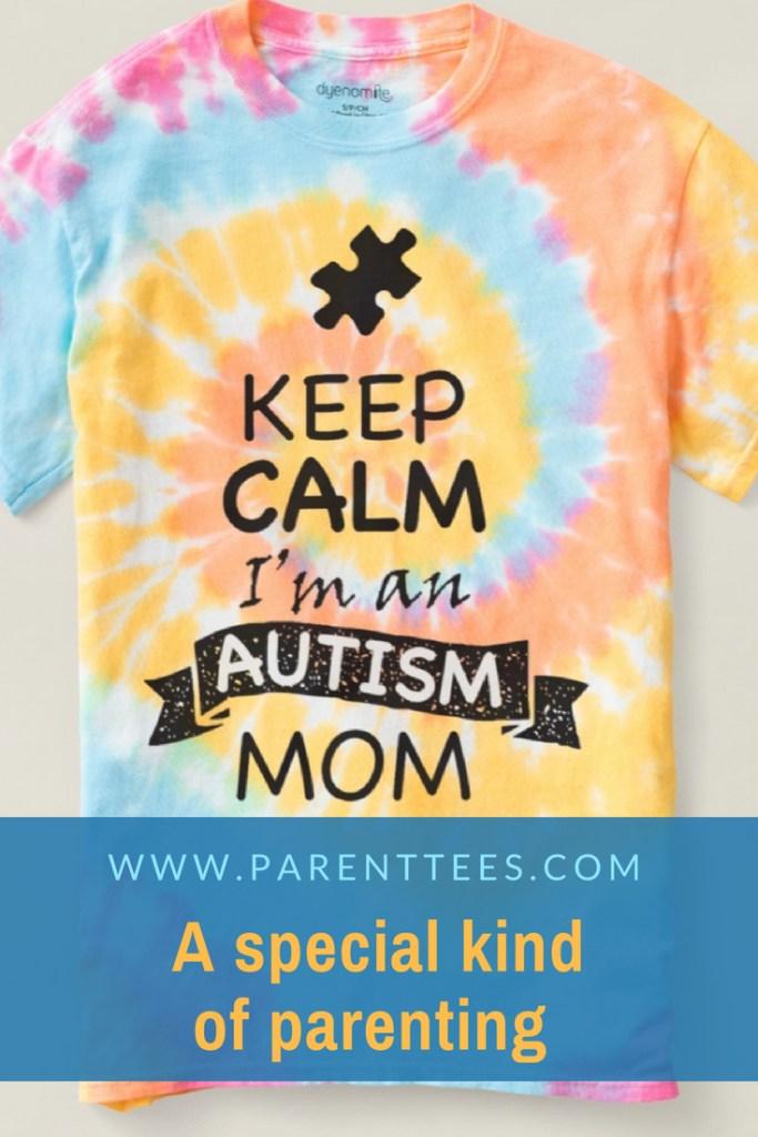 Keep Calm I'm an Autism Mom tie-dye t-shirt