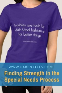 Troubles are Tools by which God fashions us. T-shirt