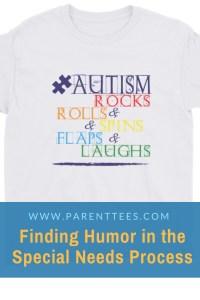 autism Rocks & Rolls & Spins & Flaps & Laughs t-shirt