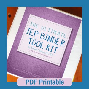 The Ultimate IEP Binder Toolkit Printable