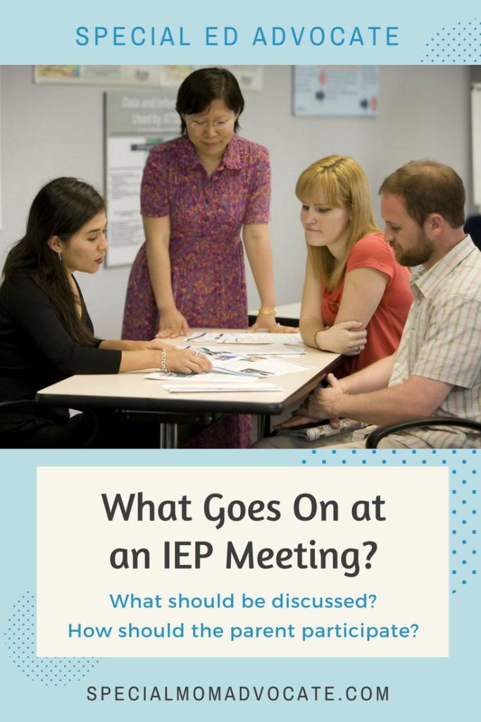 Typical IEP Meeting Agenda