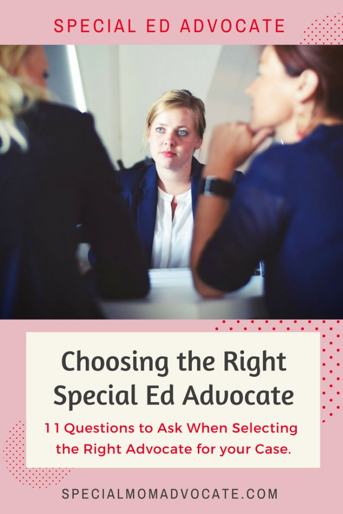 How to choose the right special education advocate