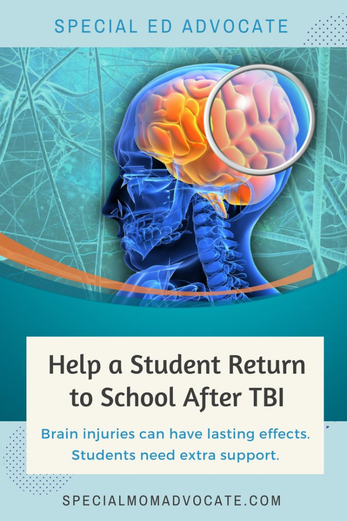 Helping Students Return to School After TBI, Traumatic Brain Injury