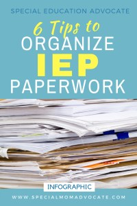 6 Tips to Organize IEP Paperwork