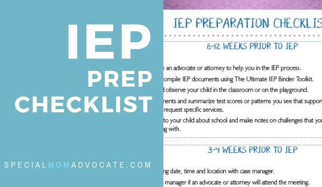 Printable IEP Prep Checklist