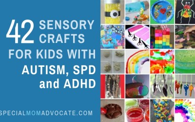 42 Sensory Crafts for Kids with Autism, SPD and ADHD
