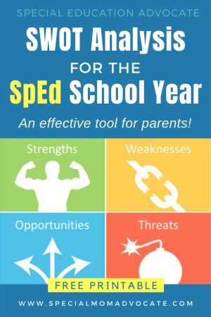 SWOT Analysis for the Special Education School Year - An Effective Tool for Parents
