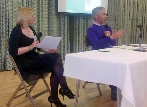 Tania interviewing Stephen Kingdom at an SEN reform conference in 2013