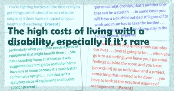 The high costs of living with a  disability, especially if it's rare