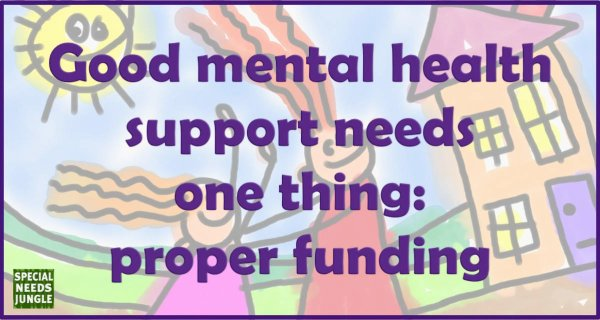 Good mental health support needs one thing- proper funding