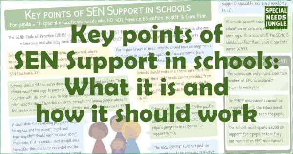 Key points of SEN Support in schools