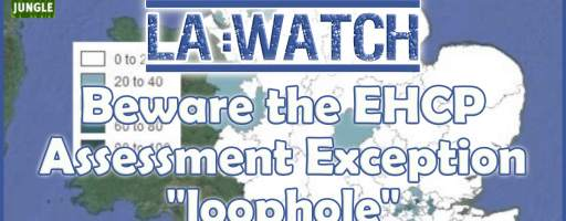 """LA watch: Beware the EHCP Assessment Exception """"loophole"""""""