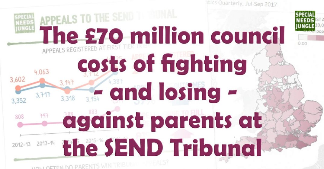 The £70 million council costs of fighting – and losing – against parents at the SEND Tribunal