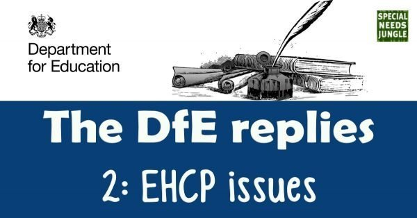 The DfE replies- EHCP issues