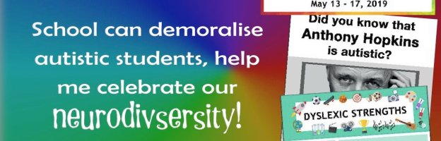 School can demoralise autistic students, help me celebrate our neurodivsersity!