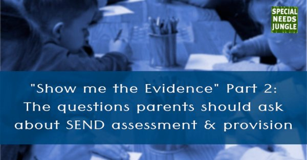 "show me the evidence pat 2"": The questions parents should ask about SEN assessment and provision"