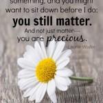 Special Needs Parent, You Still Matter