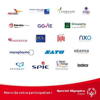Pavés logos entreprises participantes Lille 2019