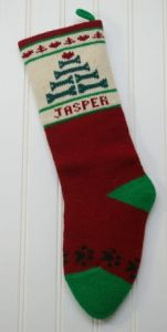Specialties in Wool Christmas stockings for pets