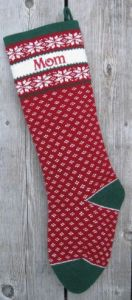 Personlized Christmas Stocking Nordic Design