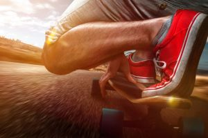 fitness industry trend article image with longboarder
