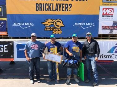 SPEC MIX BRICKLAYER 500 NORTH TEXAS REGIONAL SERIES - 1ST PLACE