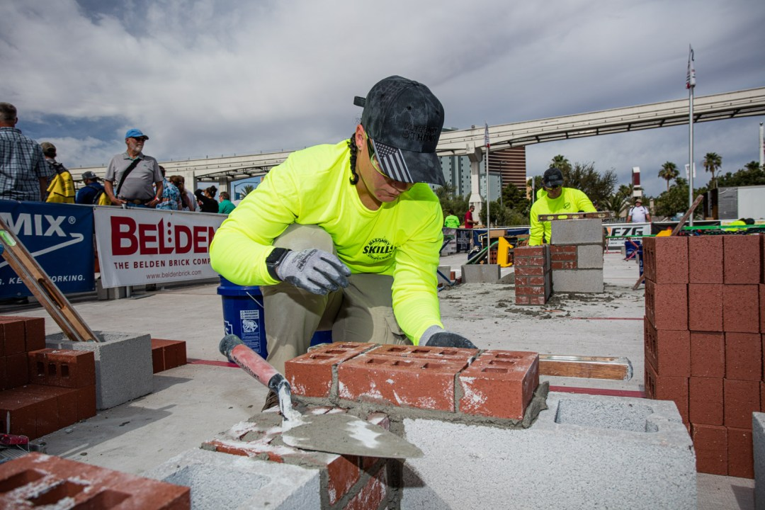 Masonry Skills Competition at the World of Concrete in Las Vegas