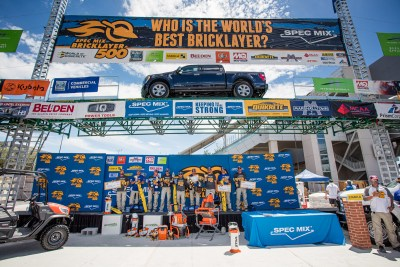Stage Shot at the 2021 SPEC MIX BRICKLAYER 500