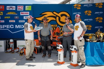 STIHL Sponsors of the 2021 SPECMIX BRICKLAYER 500 at the World of Concerete