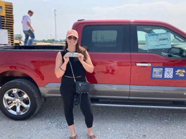 Posing with the Ford Truck at the SPEC MIX BRICKLAYER 500 Ohio Regional Series