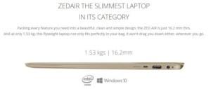 ZED Air Slimmest Laptop in Nigeria
