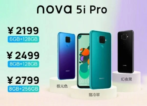 Huawei Nova 5i Pro Full Specification, Price and Availability
