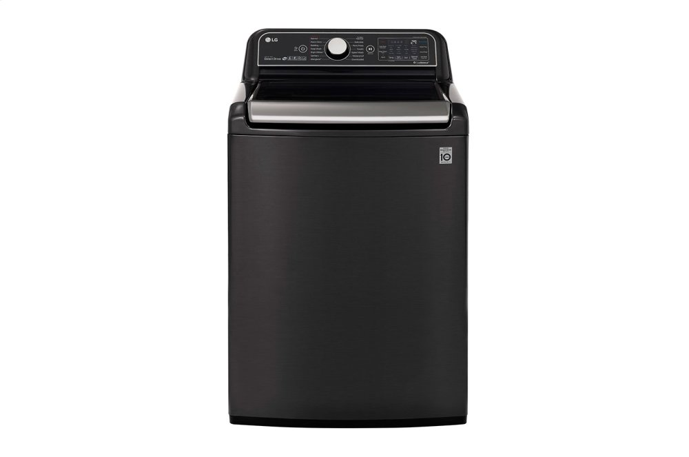 Wt7900hba Lg Appliances 5 5 Cu Ft Smart Wi Fi Enabled Top Load Washer With Turbowash3d Technology Black Steel B Hahn Appliance Warehouse
